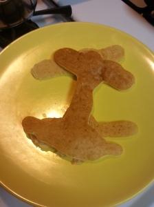 Letter pancakes