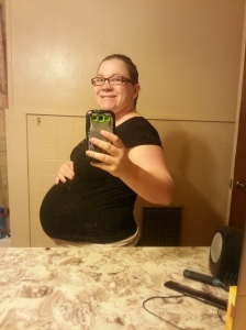 39 weeks...eight more days to go until the c-section.