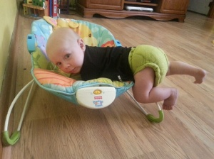 Samuel is 5 1/2 months old and climbing...I'm in trouble.