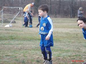 One of Josiah's first games last spring.