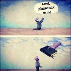 I didn't hear God because I wasn'tlistening