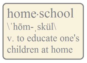 Homeschool is about how weschool
