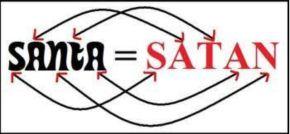 Santa is not Satan spelledfunny